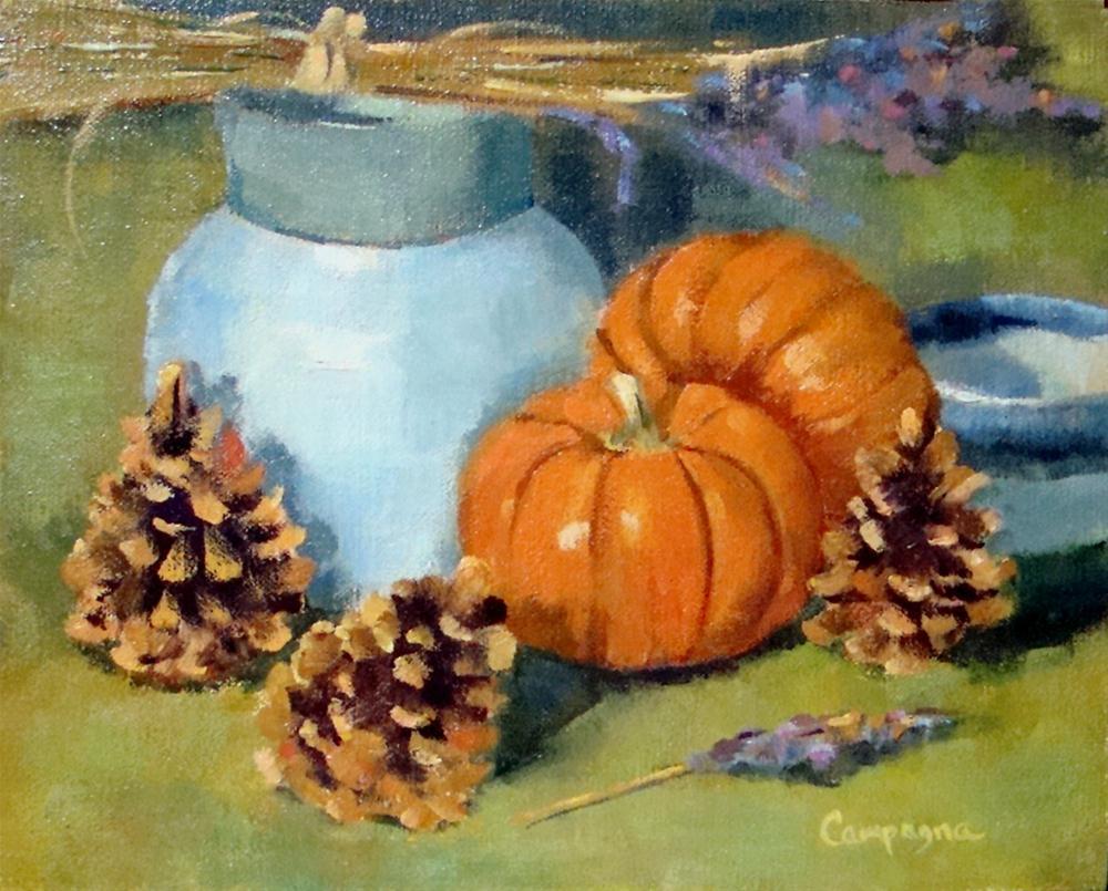 """""""Fall Arrangement"""" original fine art by Roseanne Campagna"""