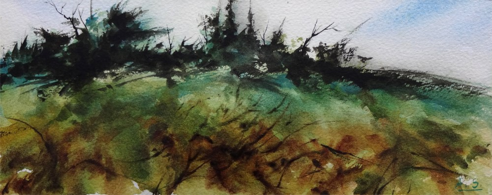 """Wild Growth II"" original fine art by Arena Shawn"