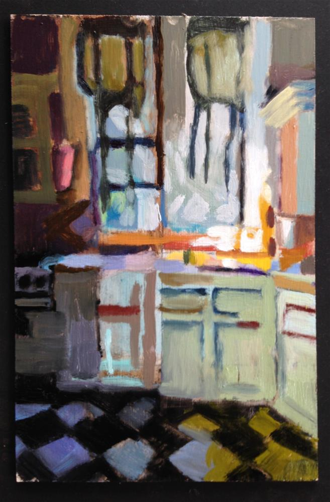 """Kitchen at Moss. St."" original fine art by Pamela Hoffmeister"