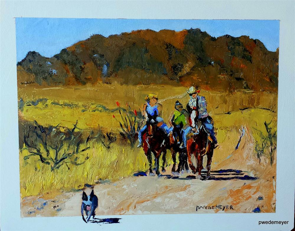 """Follow Poych"" original fine art by Pamela Wedemeyer"