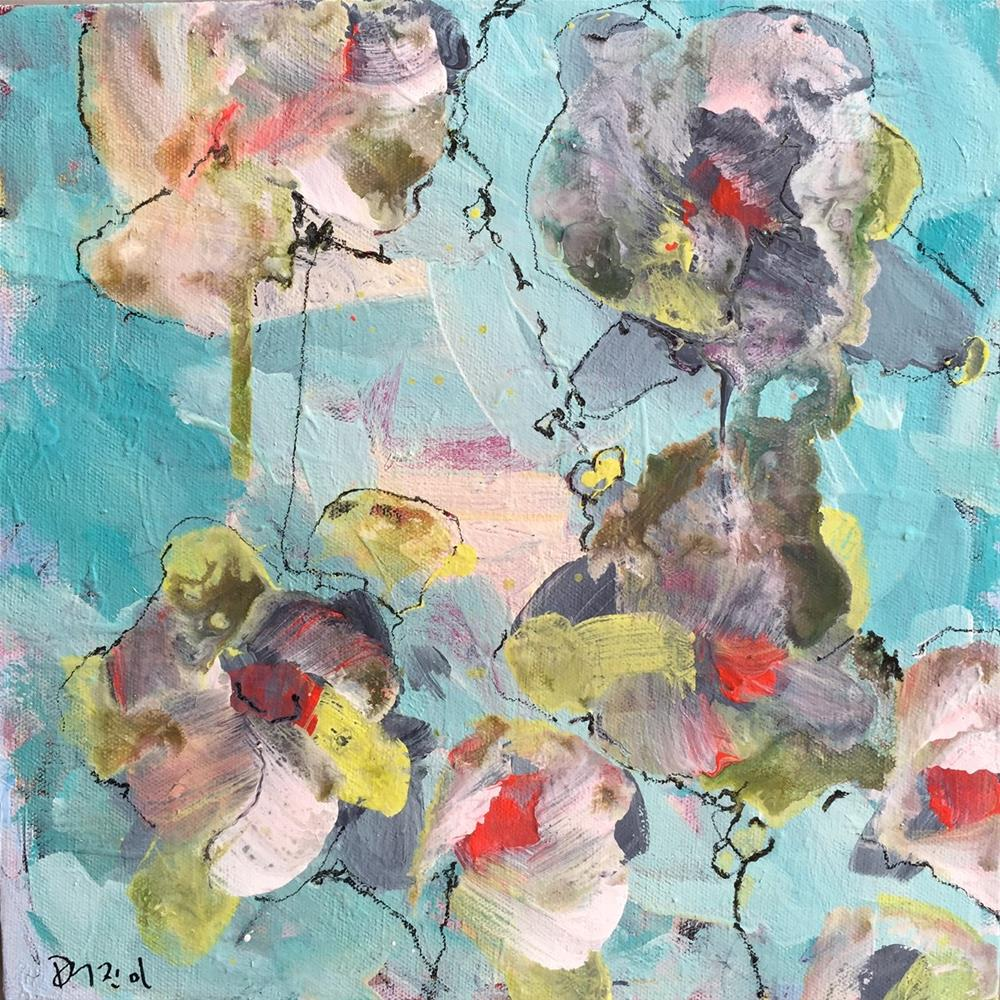 """Abstract Flowers"" original fine art by Jenny Doh"