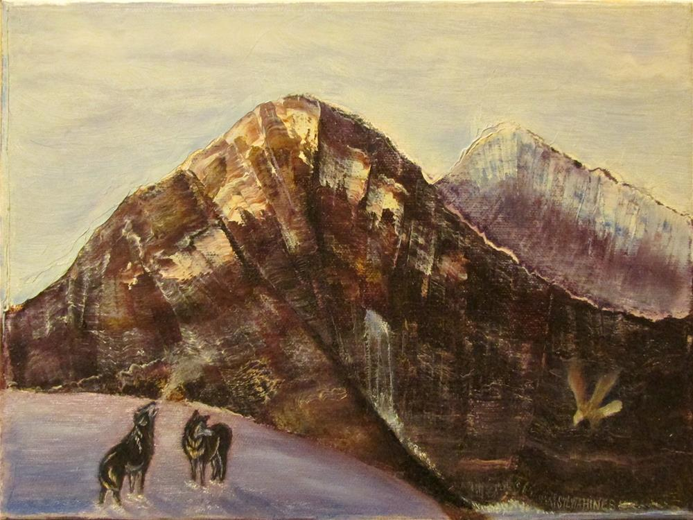"""""""Wolf Mountain 1"""" original fine art by Mary Sylvia Hines"""