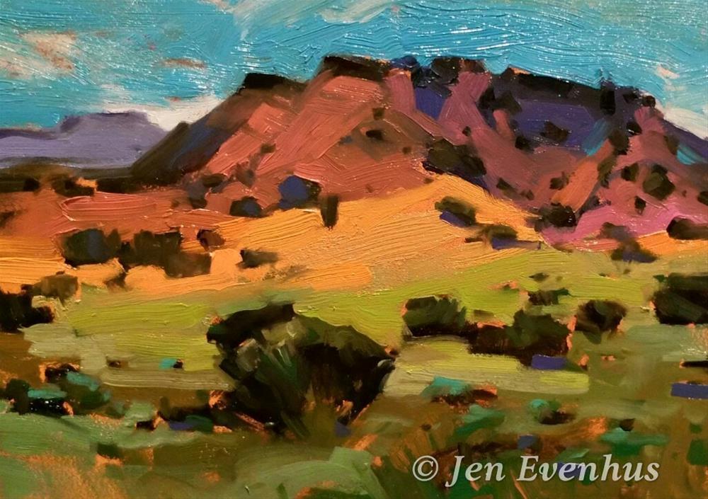 """""""Going to Abiquiu"""" original fine art by Jennifer Evenhus"""