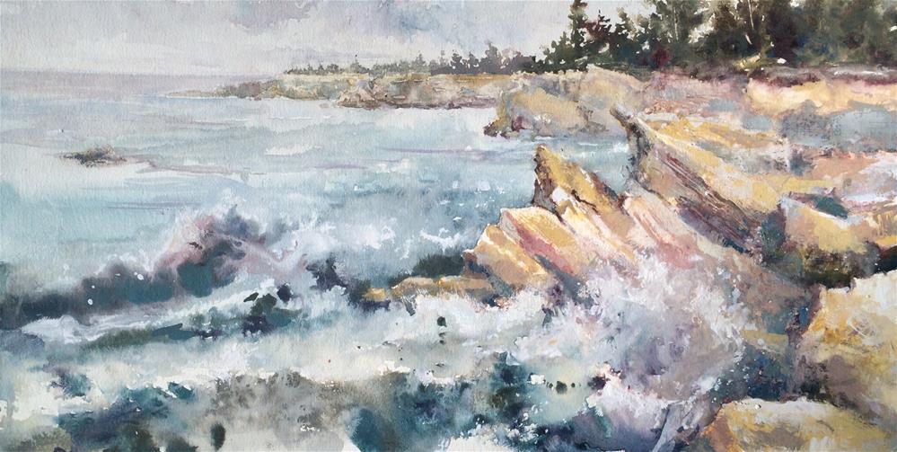 """Oregon Coast Trail View"" original fine art by Vinita Pappas"