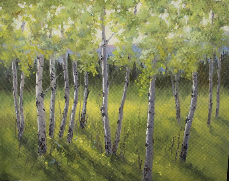 """Aspen Greenery"" original fine art by Bonnie Bowne"