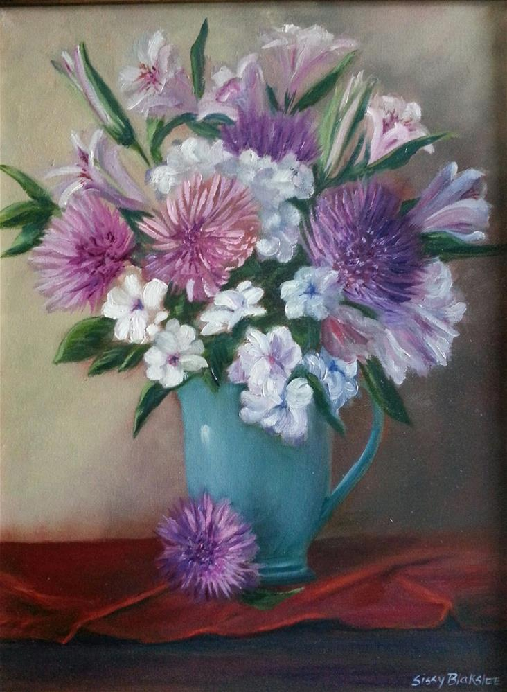 """Pretty In Pink"" original fine art by Sissy Blakslee"