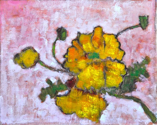 """Yellow California Wildflowers"" original fine art by Kevin Inman"