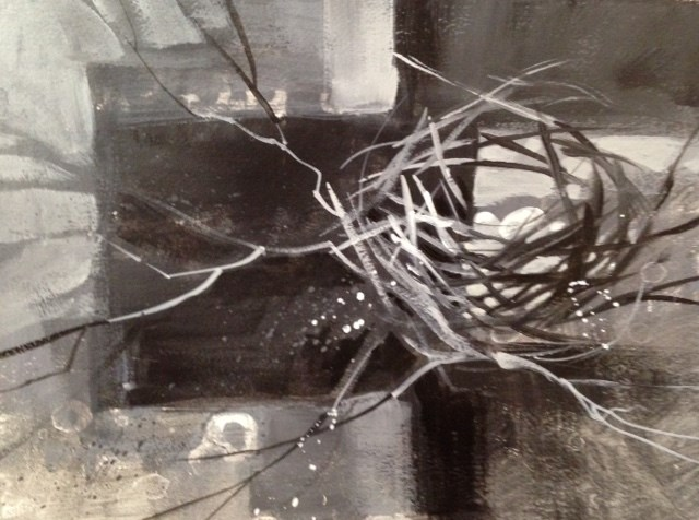 """Nest #2"" original fine art by Margie Whittington"