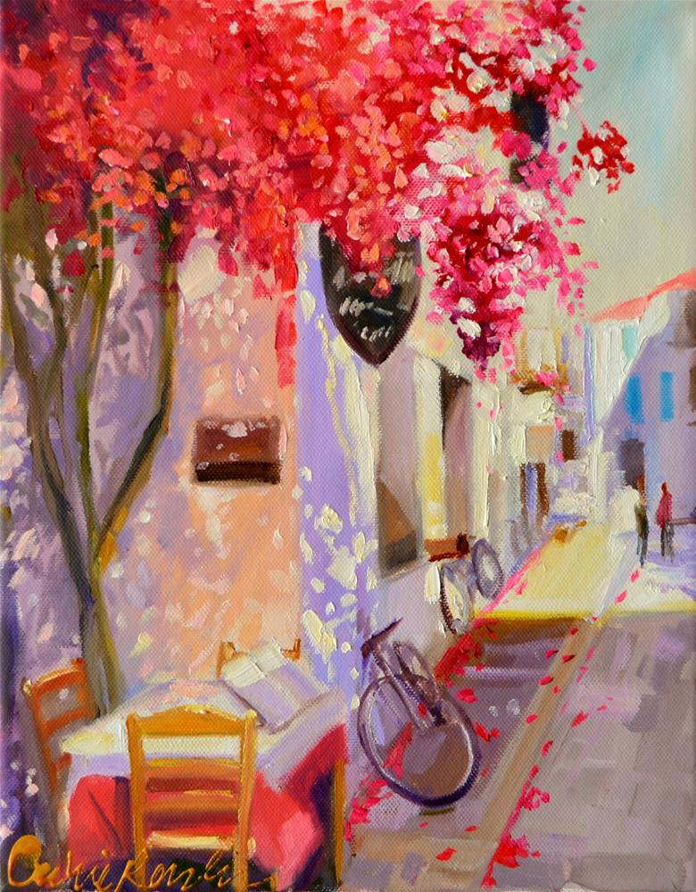 """GREEK ISLE"" original fine art by Cecilia Rosslee"