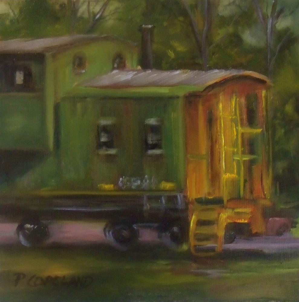 """Calera Choo Choo"" original fine art by Pamela H. Copeland"