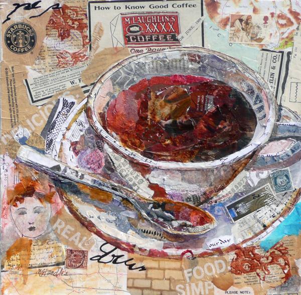 """Good Coffee SOLD"" original fine art by Nancy Standlee"