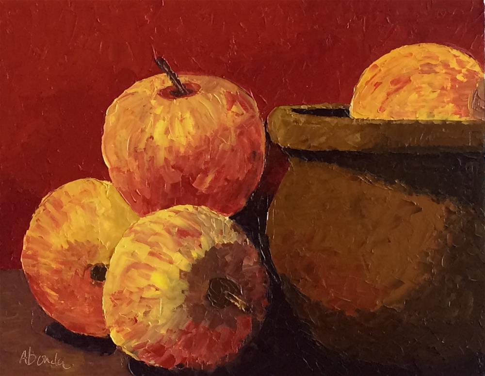 """Pot of Apples"" original fine art by Sandy Abouda"