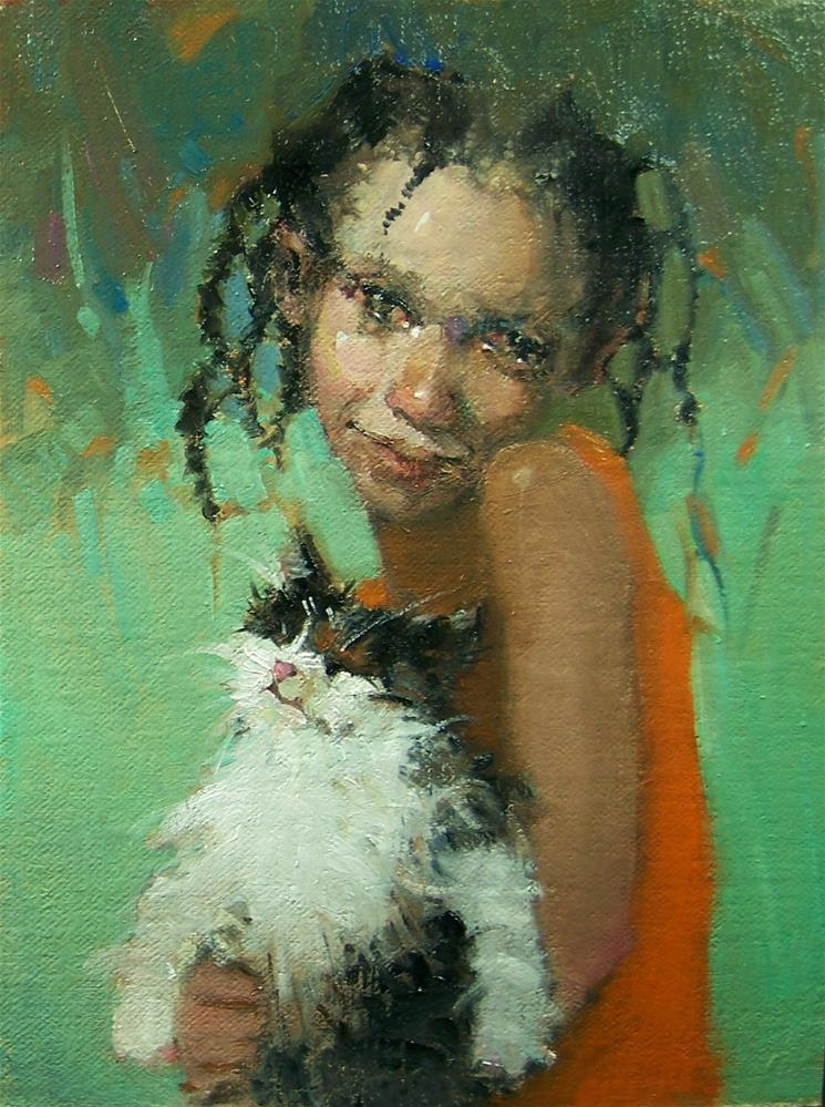 """I'm Purr-fect"" original fine art by Kim Roberti"