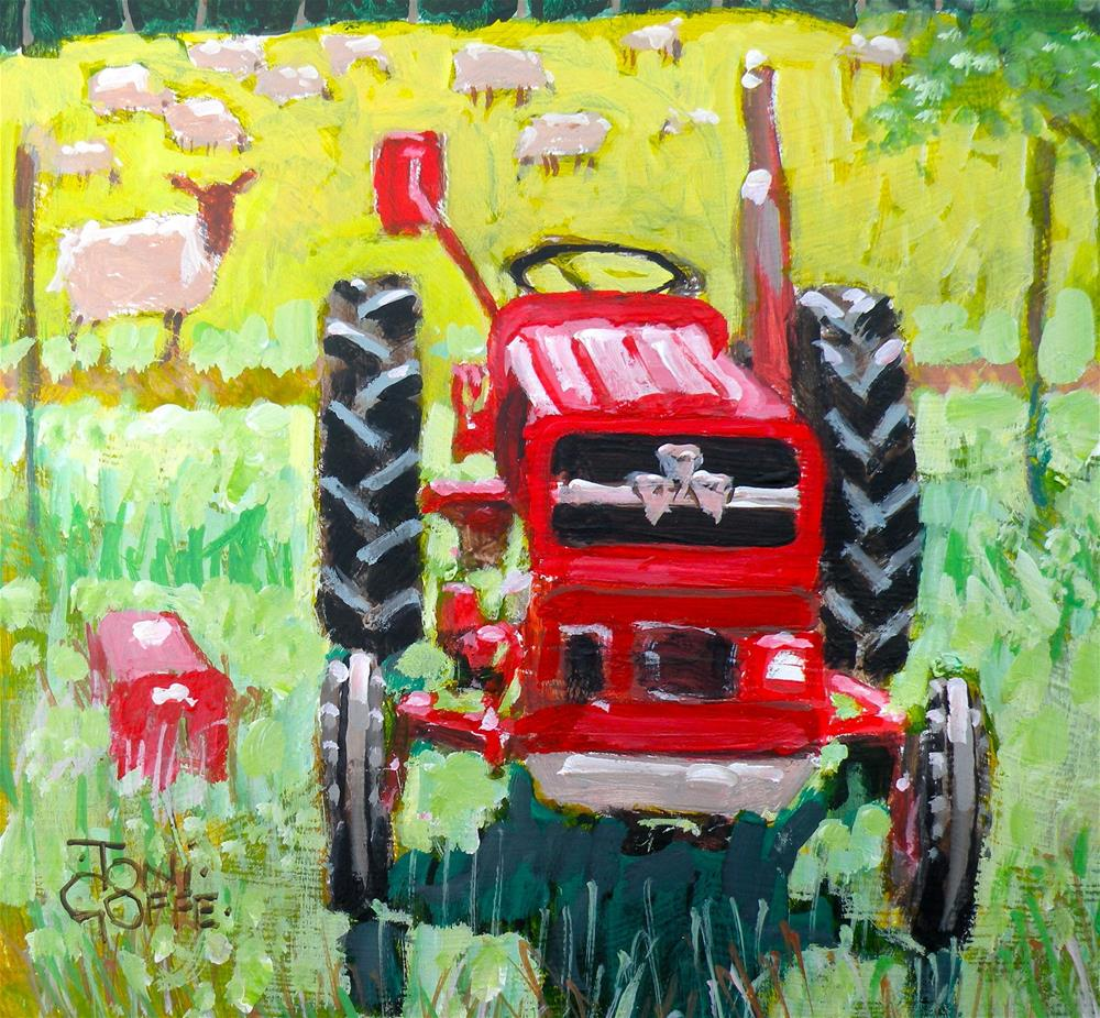 """The Red Sheep"" original fine art by Toni Goffe"