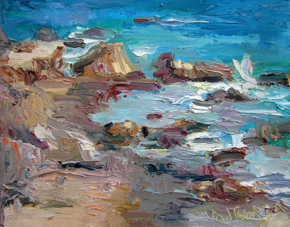 """Leo Carillo in February"" original fine art by Carol Steinberg"