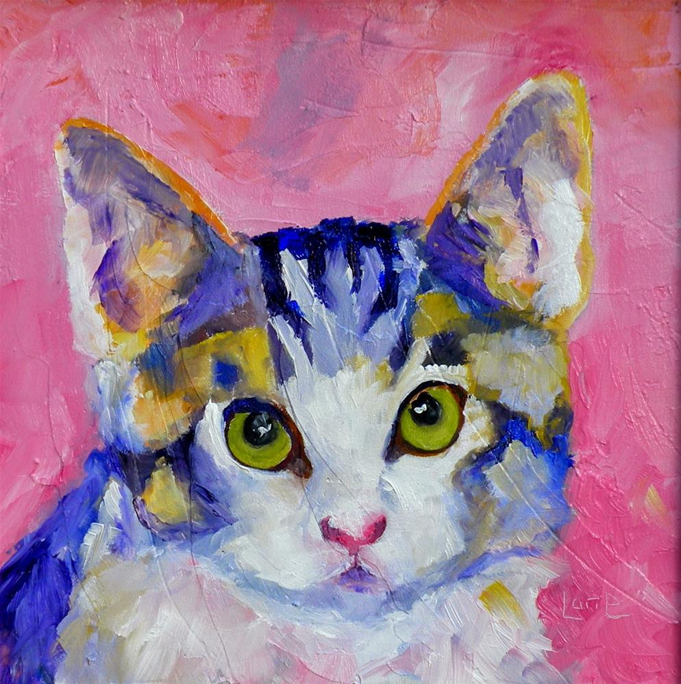 """PEEPERS 49/100 OF 100 PET PORTRAITS IN 100 DAYS © SAUNDRA LANE GALLOWAY"" original fine art by Saundra Lane Galloway"