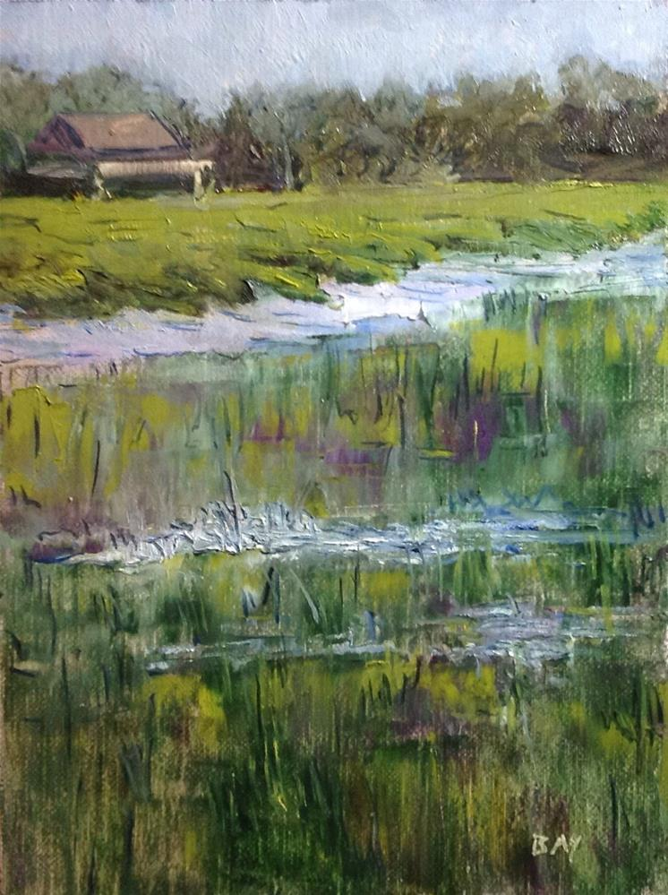 """Marsh House - Edisto SC State Park"" original fine art by barbara yongue"