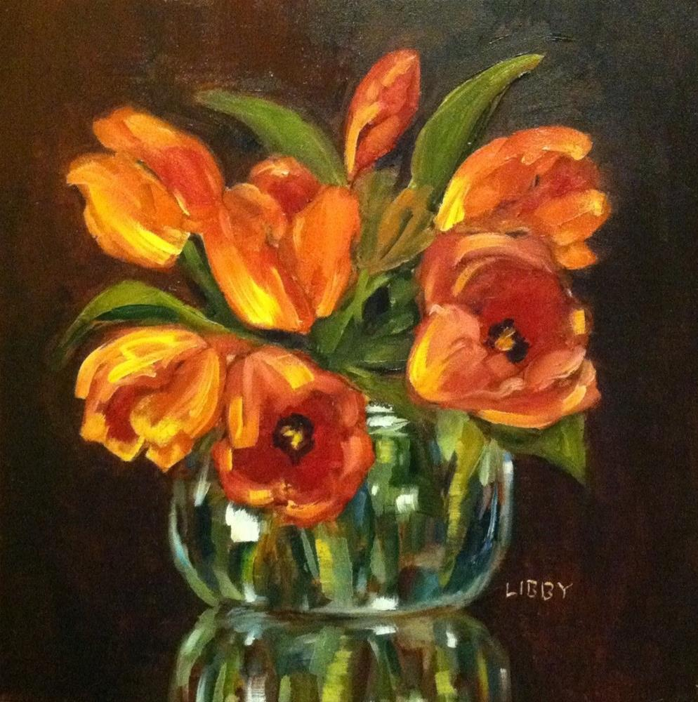 """Bright Tulips"" original fine art by Libby Anderson"