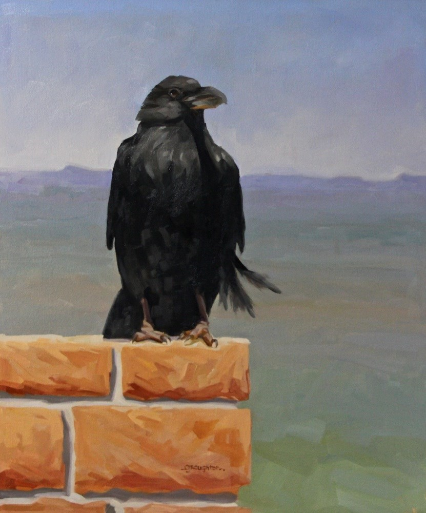 """Ravens Of Bryce Canyon-The Watch"" original fine art by C J Roughton"