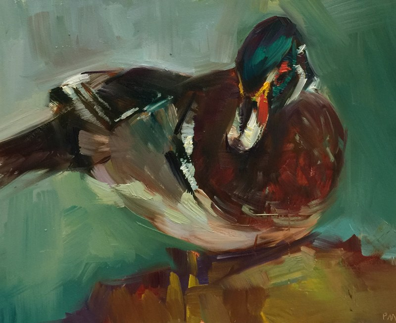"""Duck Still Life"" original fine art by Patti McNutt"