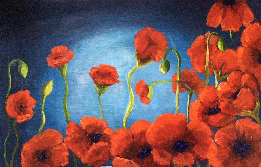 """Poppies"" original fine art by Sharon Cullen"