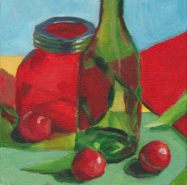 """Red and Green"" original fine art by J M Needham"