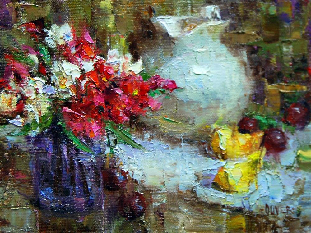 """""""The White Jug"""" original fine art by Julie Ford Oliver"""