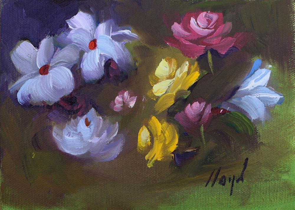 """A Variety of Blossoms"" original fine art by Diane Lloyd"