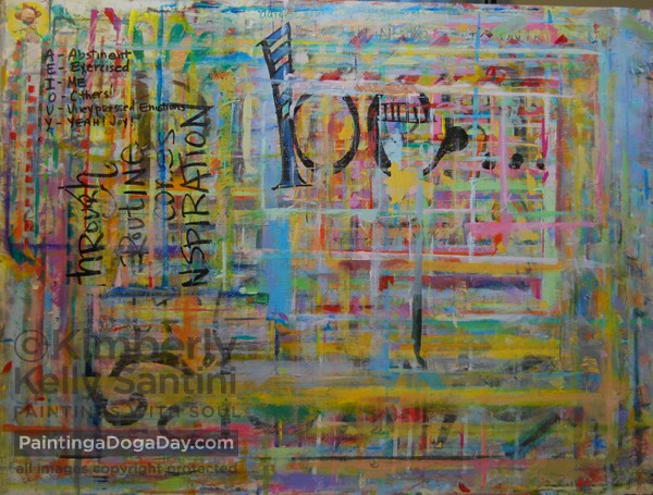 """A Boston Marathon Benefit Auction"" original fine art by Kimberly Santini"