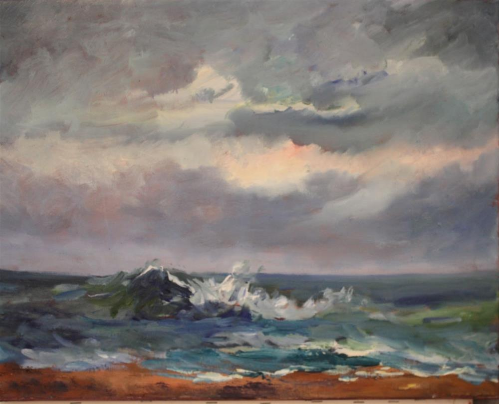 """Turmoil, Seascape Paintings by Amy Whitehouse"" original fine art by Amy Whitehouse"
