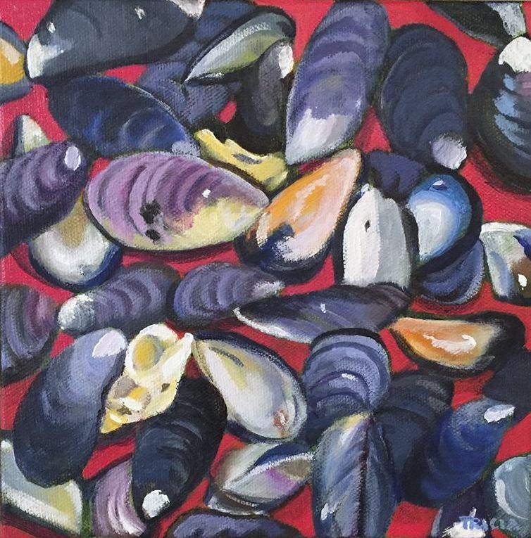"""""""Mussels II"""" original fine art by Tricia Granzier"""