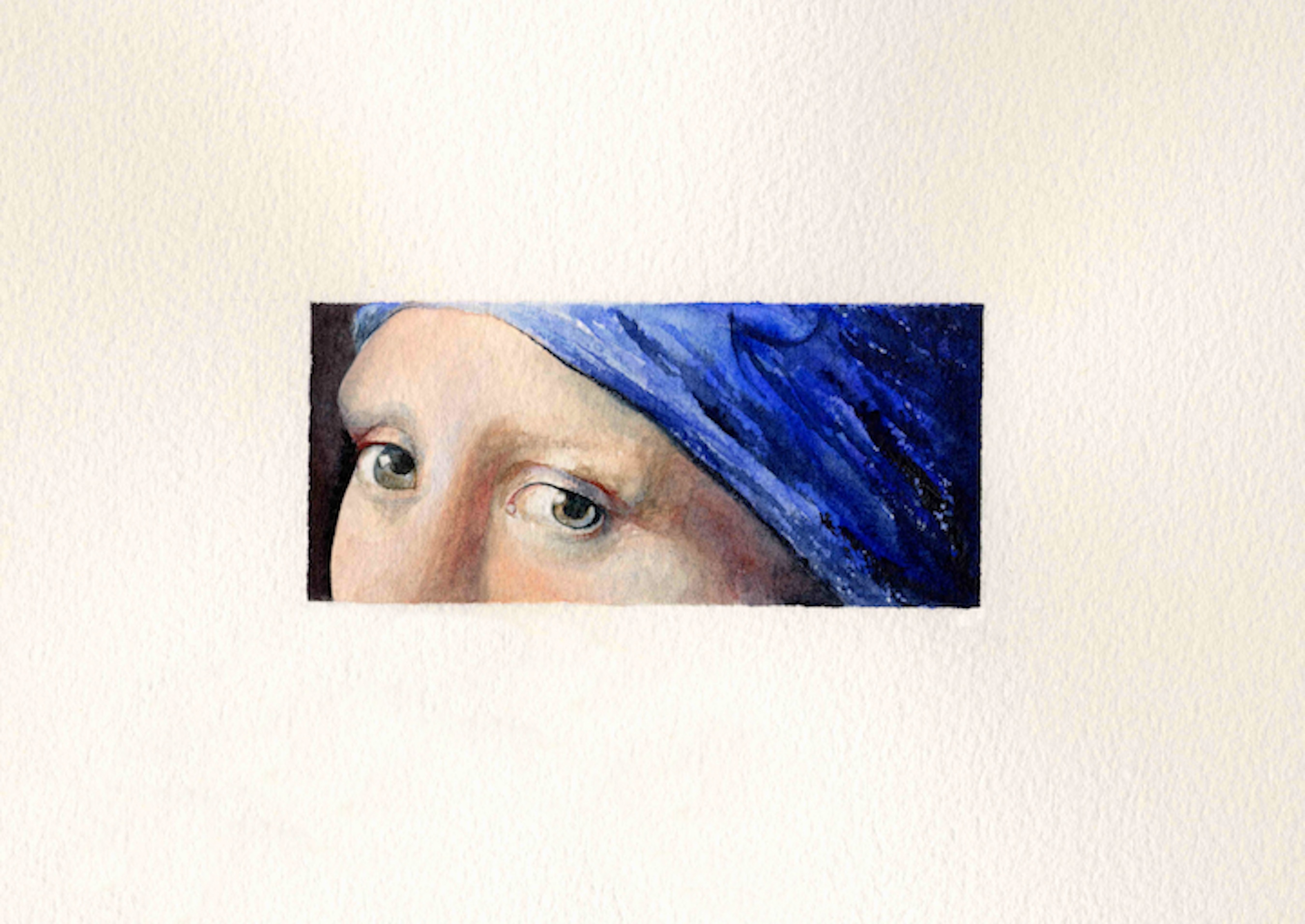 """Seeing Vermeer"" original fine art by Patti Adams"