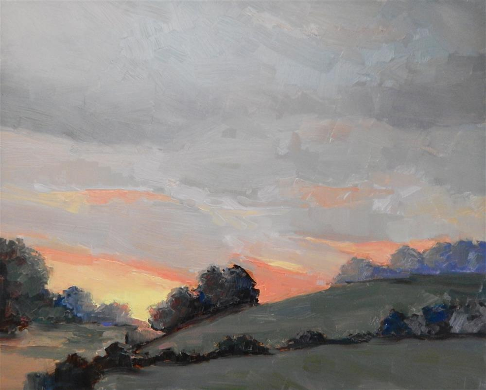 """Last Light in the Hills"" original fine art by Lisa Kyle"