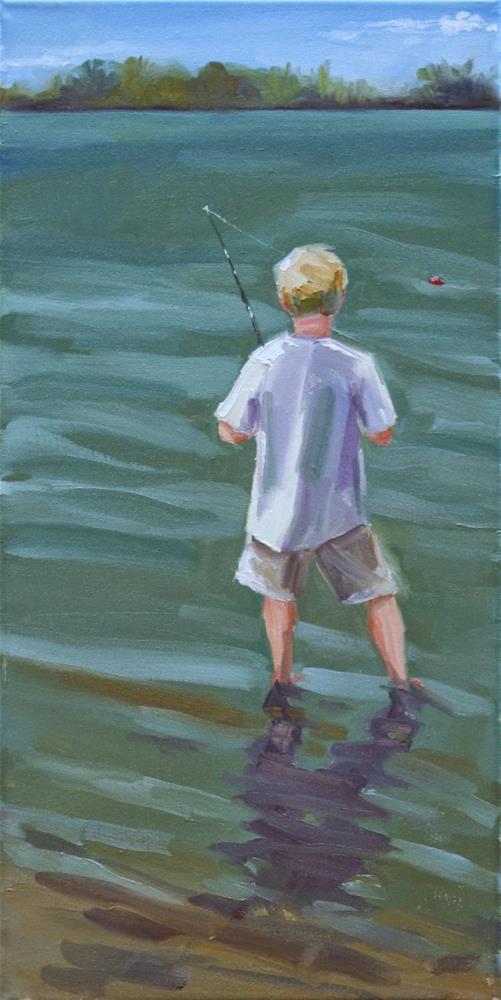 """""""bobber"""" original fine art by Carol Carmichael"""