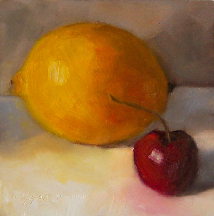 """Cherry Lemonade"" original fine art by Cindy Haase"