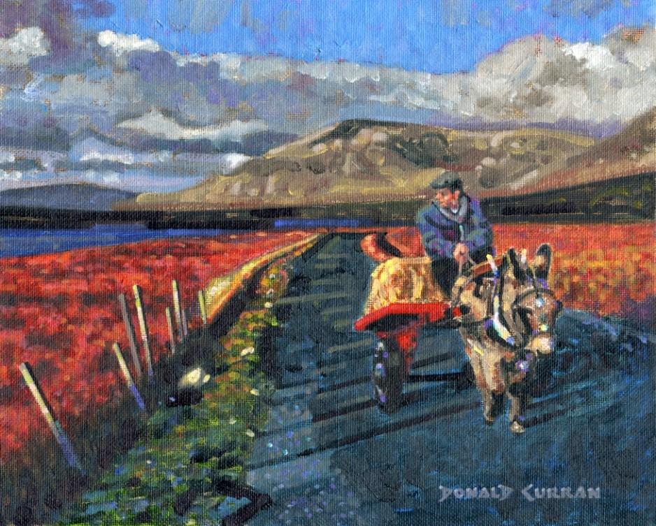 """Scenic Ireland"" original fine art by Donald Curran"
