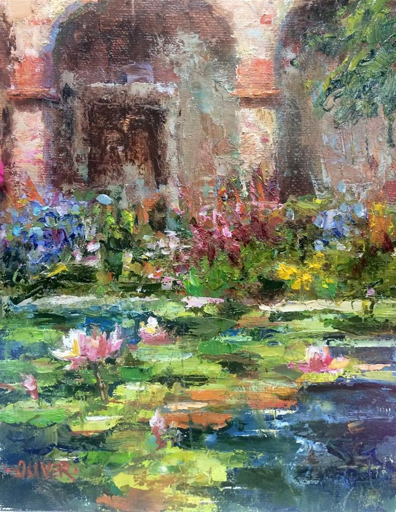 """Lily Pond at Capistrano."" original fine art by Julie Ford Oliver"
