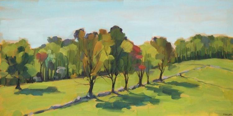 """Hemlock Hill Farm"" original fine art by Jessica Miller"