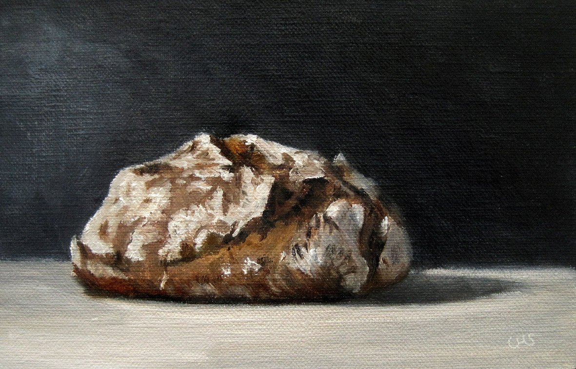 """""""Bread called Hercules"""" original fine art by Ulrike Miesen-Schuermann"""