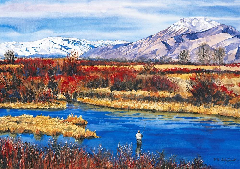 """Late Season Silvercreek"" original fine art by Andy Sewell"
