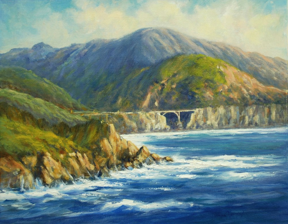 """BIG SUR"" original fine art by Dj Lanzendorfer"