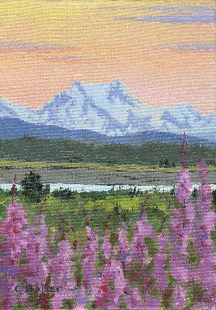 """Mount Bertha"" original fine art by Carole Baker"