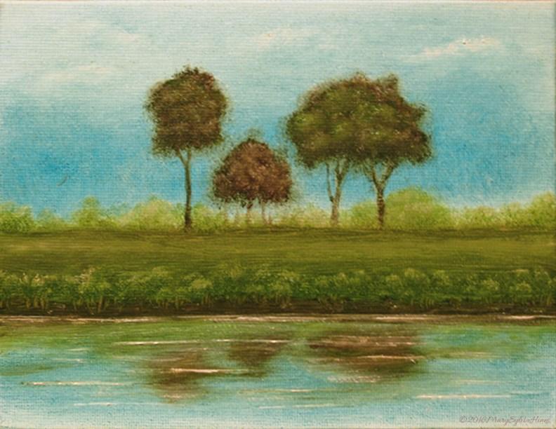 """Landscape Mini31"" original fine art by Mary Sylvia Hines"