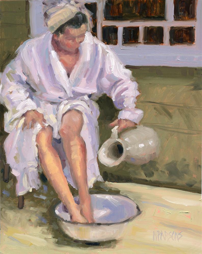 """""""Bathing Beauty"""" original fine art by Nancy Parsons"""