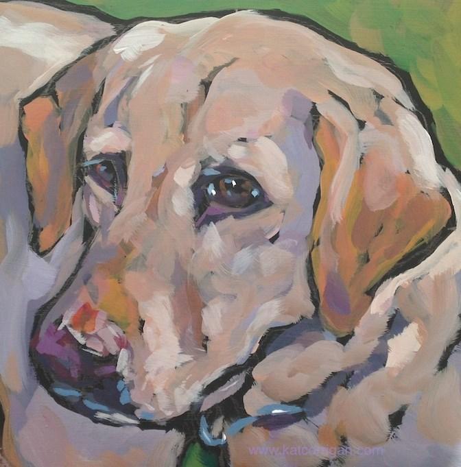 """""""Josie, July 24"""" original fine art by Kat Corrigan"""
