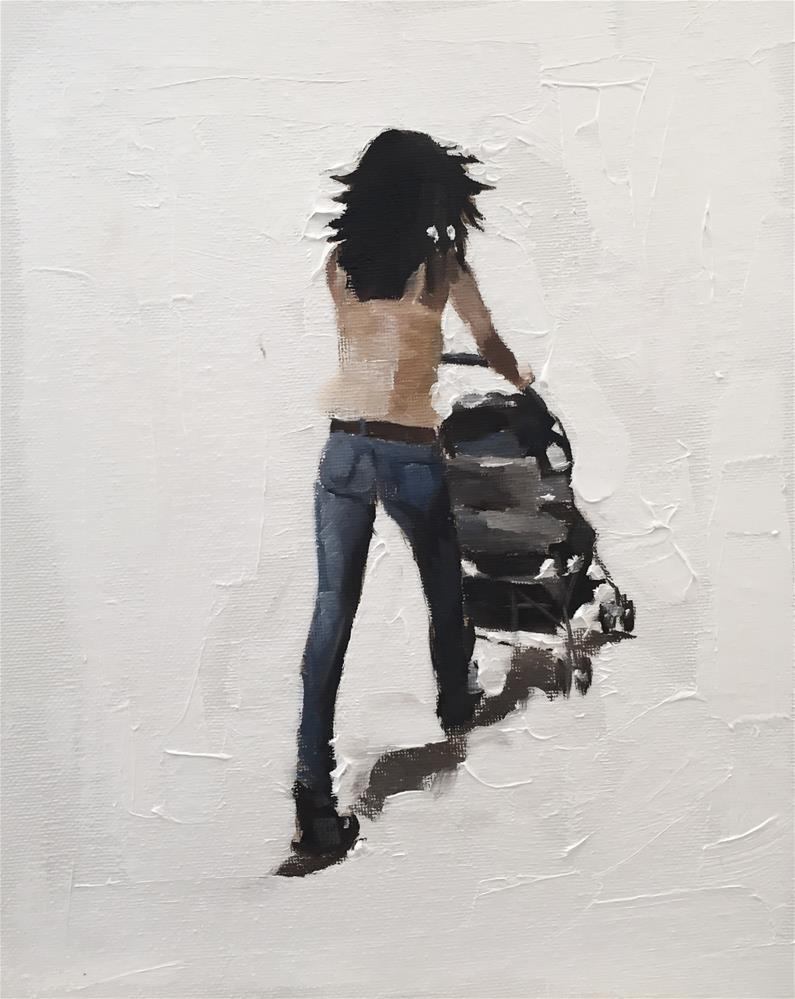 """The Stroller"" original fine art by James Coates"