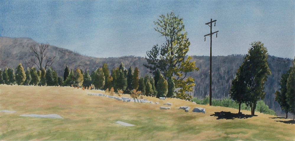 """Cedars before Black Mountain"" original fine art by Greg Arens"