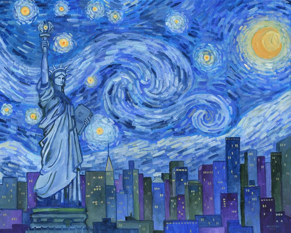 """The Starry American Night"" original fine art by Randal Huiskens"