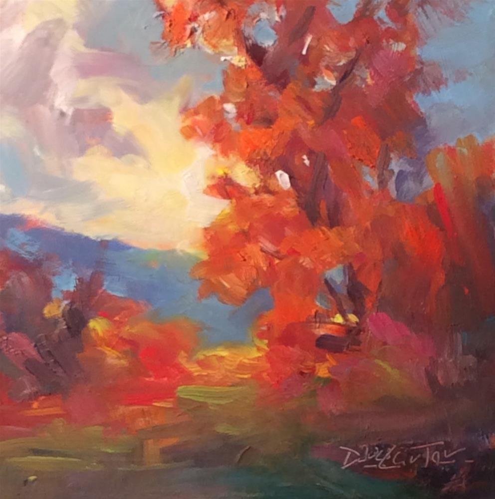 """""""'AUTUMN RED"""" original fine art by Doug Carter"""