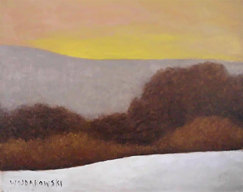 """Winter morning"" original fine art by Joe Wojdakowski"